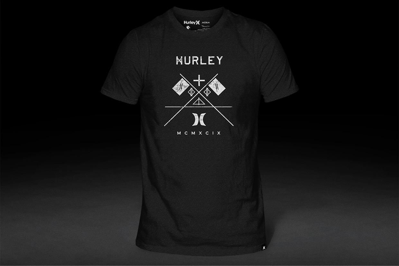Hurley t-shirt graphic design