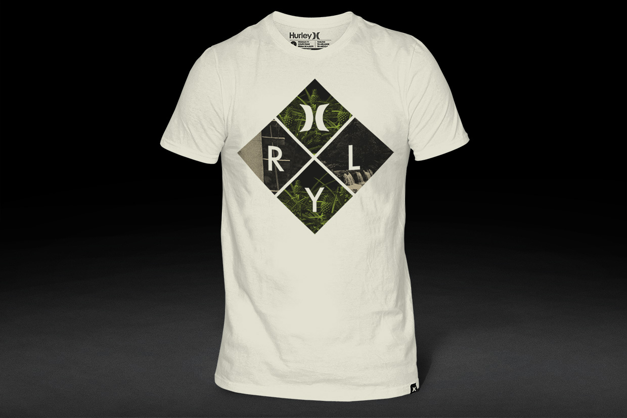 Hurley t-shirt graphic design