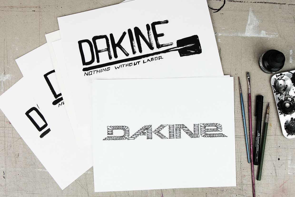 Dakine t-shirt graphic design