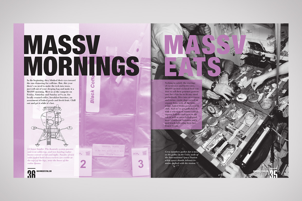 Massv print graphic design