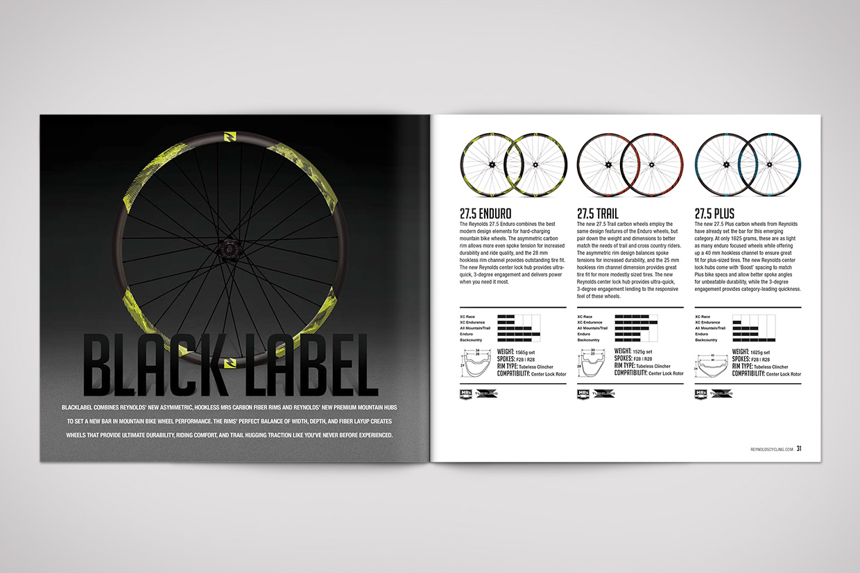 Reynolds Cycling Catalog Graphic Design