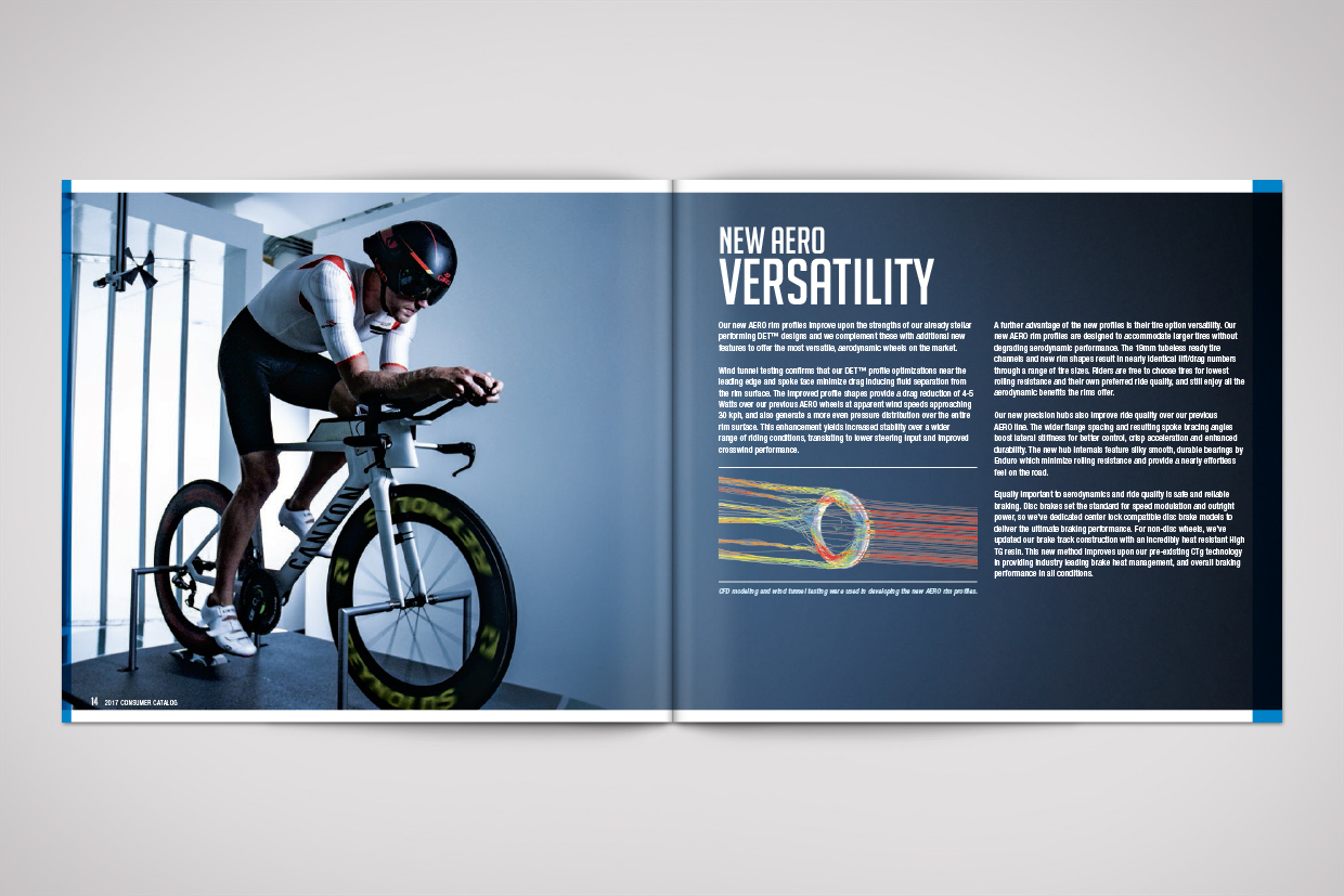 Reynolds Cycling Catalog Graphic Design