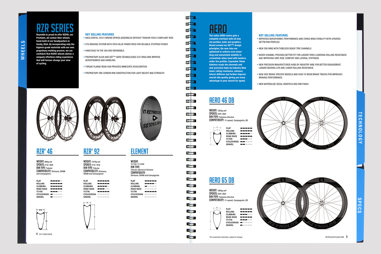 Reynolds Cycling Sales Book Graphic Design