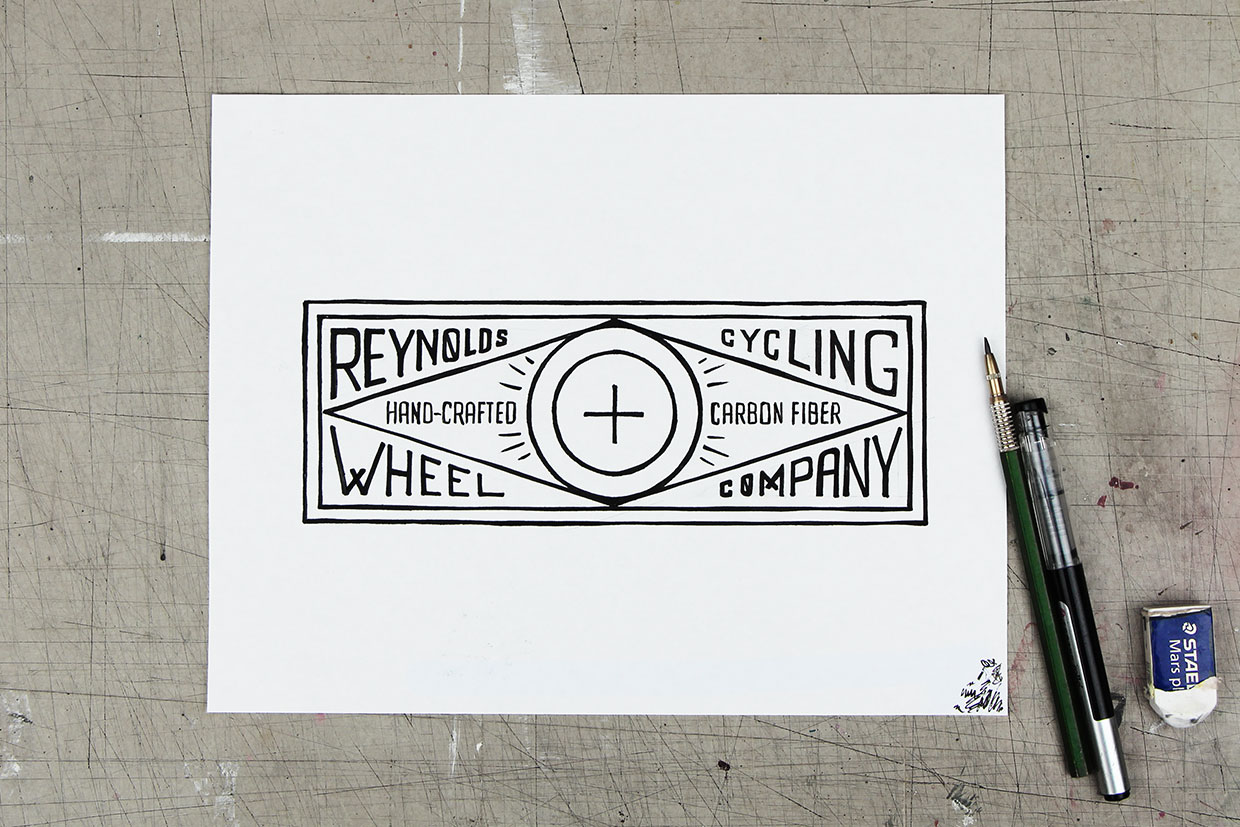 Reynolds cycling t-shirt graphic design