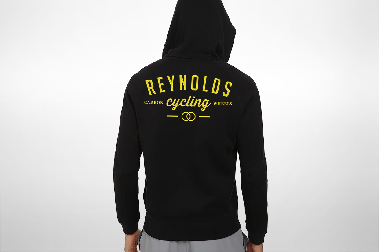 Reynolds cycling promo hoodie design