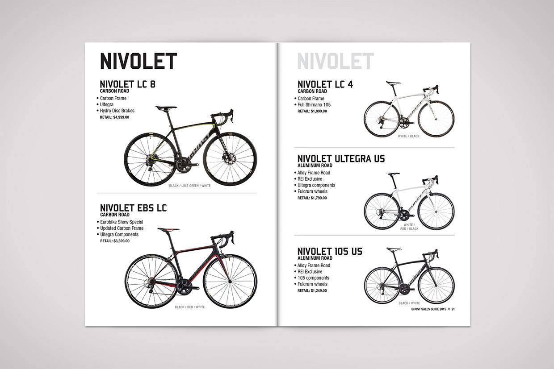 Ghost Bikes Lookbook graphic design
